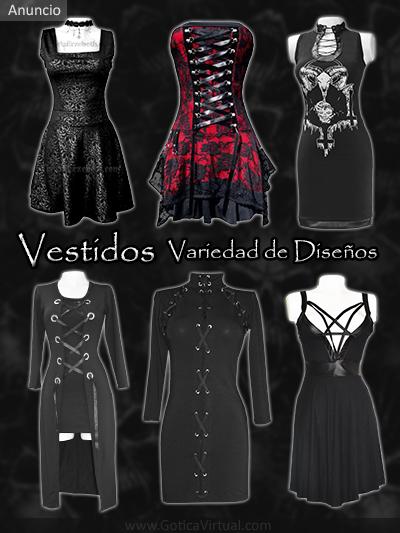 vestidos disenos tela algodon pentagrama arabescos ojales cordones tienda online rock metal boutique bogota colombia